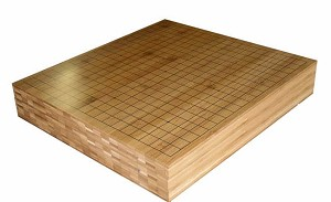 "3 1/4"" Solid Bamboo Go Game Board"