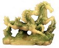 Hong Tze Collection-Medium Double Horses (Jade Color)