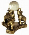 Fabulous Hong Tze Collection-Triple Elephants Playing Crystal Ball