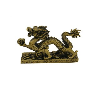 Fabulous Hong Tze Collection-Brass Color Hang Dragon (Small)