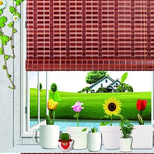 Natural Bamboo Roll Up Window Blind Roman Shade Sun Shade WB-SUN319