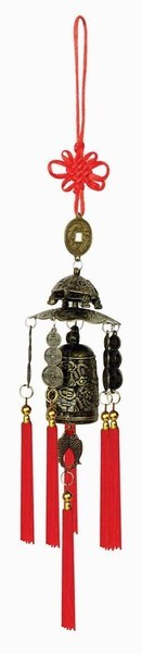 Brass Feng Shui Wind Chime For Home Garden & Car