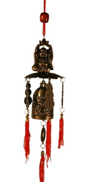 Brass Feng Shui Wind Chime For Home Garden & Car WIN075