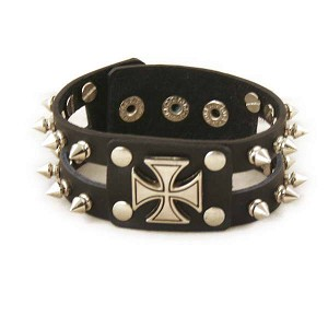 Stylish Leather Wrist Band Bracelet YX95