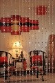 Beautiful Acrylic Beaded Curtain - Silver Circles
