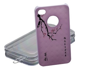 Plum Blossom Design Iphone 4 / 4S Case -Retail Packing