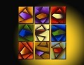 Modern Abstract Art Oil Painting NINE STRETCHED PANELS NY-3249