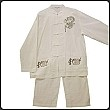 Traditional Chinese Embroidered Linen Kung-Fu Suit