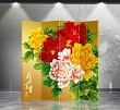 Double Sided Canvas Screen Room Divider - Peony