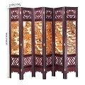 Vintage Oriental Style 6 Panels Screen Room Divider FUR5008