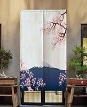 "Japanese Noren Doorway Curtain/Tapestry for Home or Restaurant - 33.5"" x 59"" (Cherry Blossoms)"