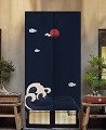 "Japanese Noren Doorway Curtain/Tapestry for Home or Restaurant - 33.5"" x 59"" (Wave and Night Sky)"