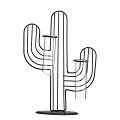 TJ Global Cactus Double Test Tube Vase Planter Holder, Plant Terrarium, Propagation Station, Metal Stand for Hydroponics Plants Home Garden Wedding Decoration Outdoor Planter Ideas Modern Creative