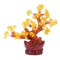 Stunning Feng Shui Citrine Gemstone Quartz Bonsai Money Tree LARGE