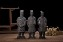 Set Of 3 Antique Reproduction Qin Dynasty Terra cotta Warrior Collectible Statuette Miniature 22CM