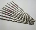 10 Pcs (5 Pairs) High Quality Butterfly Design Silver Stainless Steel Chopsticks