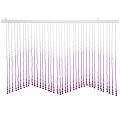 Beautiful Home Decor Acrylic Beaded Valance Curtain Door Screen Divider - Acrylic Purple & Crystal Clear Teardrop