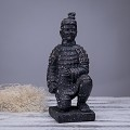 Antique Reproduction Qin Dynasty Terra cotta Warrior Collectible Statuette Large 12