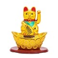 Solar Powered Bobblehead Toy Figure, Lucky Cat 067