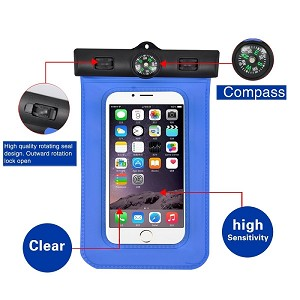 [Waterproof Case] Bingo Portable Ultra Slim Waterproof Case Bag with Compass for iPhone 6 Plus, iPhone 6 5S 5C 5 4S, Samsung Galaxy S6/ S6 Edge, Galaxy S5 S4, Note 4 3, HTC ONE(M9), LG G2 G3, Google Nexus 5 6, Nokia 520 530 900 and other Smartphones / Fre